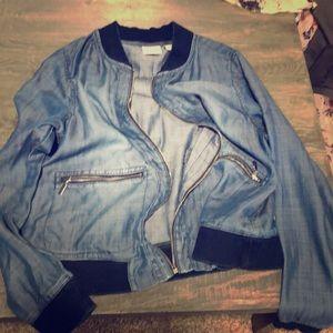 Light weight jean jacket style blazer